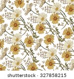 chamomile. grass. wildflowers... | Shutterstock .eps vector #327858215