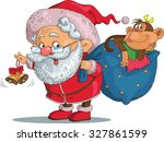 vector. funny cartoon. santa... | Shutterstock .eps vector #327861599