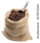 Coffee Burlap Sack With A Scoo...