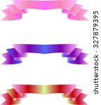 vector ribbons on happiness | Shutterstock .eps vector #327879395