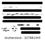 set of grunge brush strokes.... | Shutterstock .eps vector #327881345
