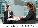 young business woman job... | Shutterstock . vector #327882299
