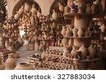 Clay Jars At The Rural Arabic...
