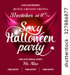 sexy halloween party pink club...   Shutterstock .eps vector #327886877