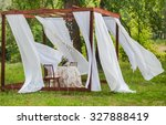 Outdoor Gazebo With White...
