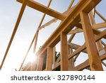 new house construction with sky | Shutterstock . vector #327890144