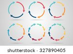 vector circle arrows for... | Shutterstock .eps vector #327890405