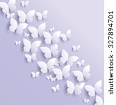 lavender butterfly abstract... | Shutterstock .eps vector #327894701