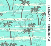 seamless pattern with dolphins... | Shutterstock .eps vector #327895964
