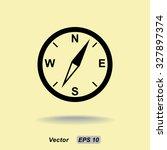 compass sign icon  vector... | Shutterstock .eps vector #327897374
