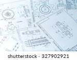 the engineering drawing printing | Shutterstock . vector #327902921