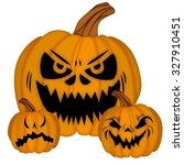 pumpkin halloween set | Shutterstock .eps vector #327910451