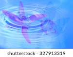 close up  abstract composition... | Shutterstock . vector #327913319