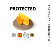 protected icon  vector symbol...
