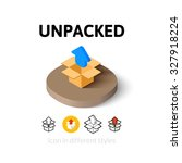 unpacked icon  vector symbol in ...