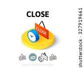 close icon  vector symbol in...