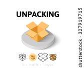unpacking icon  vector symbol...