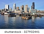 seattle  wa  8 april 2014  view ... | Shutterstock . vector #327932441