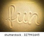 Fun Word On Sand