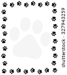Dog Pawprint Border   Frame On...