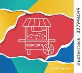 shopping cart line icon | Shutterstock .eps vector #327946049