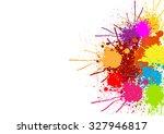 abstract splatter color... | Shutterstock .eps vector #327946817
