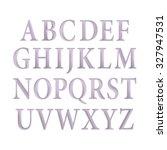 vintage purple font vector... | Shutterstock .eps vector #327947531