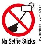 sign of selfie stick ban | Shutterstock .eps vector #327947657