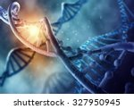 concept of biochemistry with...   Shutterstock . vector #327950945