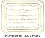 decorative gold frame set...