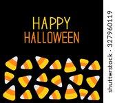 Candy Corn Set. Happy Hallowee...