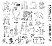 vector illustration of packing... | Shutterstock .eps vector #327962021