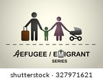 family of immigrants   refugees.... | Shutterstock .eps vector #327971621
