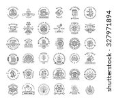 bitcoin logo templates set.... | Shutterstock .eps vector #327971894