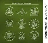 bitcoin logo templates set.... | Shutterstock .eps vector #327971897