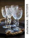 Vintage Crystal Glasses On The...