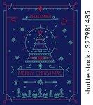merry christmas outline... | Shutterstock .eps vector #327981485