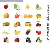 set with fruits and berries | Shutterstock .eps vector #327985121