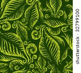 seamless green floral pattern... | Shutterstock .eps vector #32799100