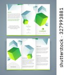 professional trifold brochure ... | Shutterstock .eps vector #327993881