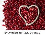 cranberries in a stone vessel... | Shutterstock . vector #327994517
