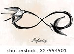 hand drawn intricare infinity... | Shutterstock .eps vector #327994901