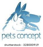 an illustration of stylised pet ... | Shutterstock .eps vector #328000919