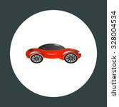 red car. icon. vector design | Shutterstock .eps vector #328004534