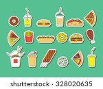 vector set of fast food. fast... | Shutterstock .eps vector #328020635