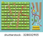 Snake And Ladder Pixel Style...
