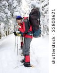 hiker in winter mountains | Shutterstock . vector #32803621