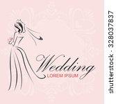 wedding logo   Shutterstock .eps vector #328037837
