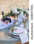 decorated for wedding elegant... | Shutterstock . vector #328057001