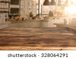 kitchen board wooden top and... | Shutterstock . vector #328064291